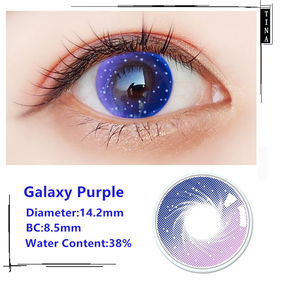 TINA Yearly Galaxy Color Contacts Galaxy Purple (2pcs/box)