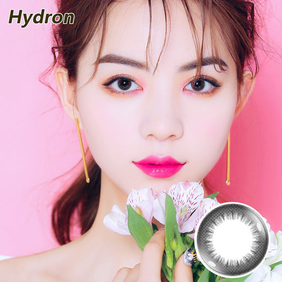 Hydron Happy Go mixed blood disposable daily color contact lenses Psychedelic Black