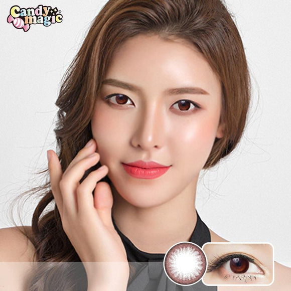 Japan girlie style  Japan candymagic disposable daily colored contact lenses 10 pcs packing Beginner Chocolate