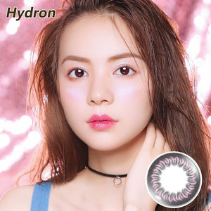 Hydron Happy Go mixed blood disposable daily color contact lenses Glass Purple