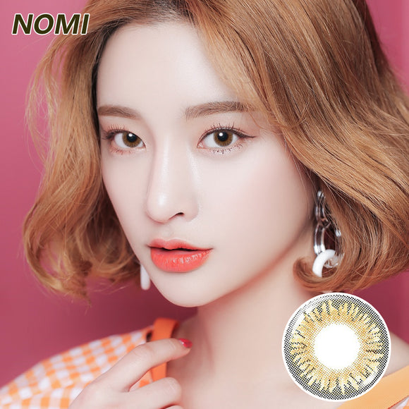 Korea NOMi Mermaid mixed blood size diameter disposable daily color contact lenses Tri-colored Brown Mermaid