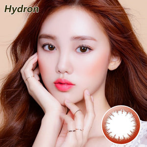 Hydron Eye Secret size diamter  disposable daily color contact lenses Eye Secret Amber Brown
