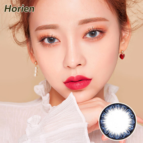 Horien Pandora one piece mixed blood size diameter disposable half yearly color contact lense  Pure Blue