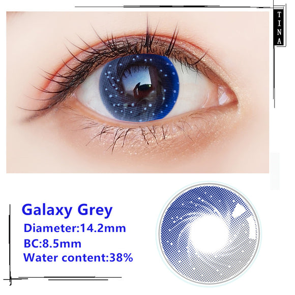 TINA Yearly Galaxy Color Contacts Galaxy Grey (2pcs/box)