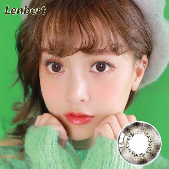 LENBERT natural mixed blood  disposable daily color contact lenses Fan Brown