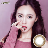 Japan Femii size diameter disposable daily color contact lenses Fresh Clever Brown