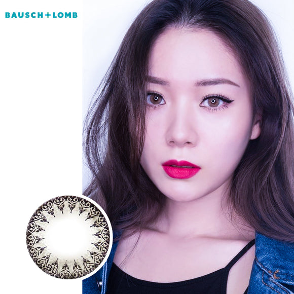 Bausch & Lomb one piece mixed blood small diameter disposable half yearly color contact lenses Grey