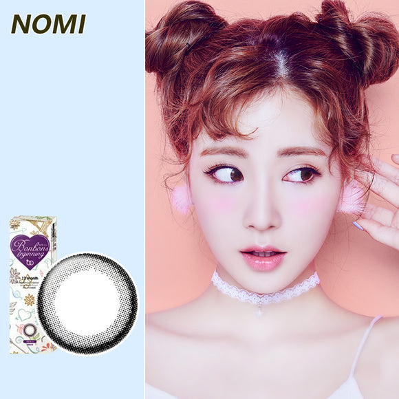 Korea NOMI mixed blood size diameter disposable yearly color contact lenses Bonbons Small Black Ring