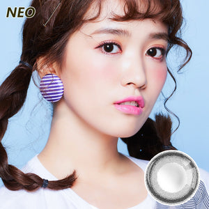 Korea imported Neo Vision mixed blood size diameter small black ring disposable yearly color contact lenses Small Black Ring