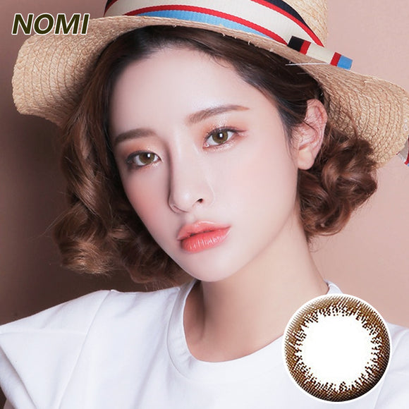 Korea NOMI mixed blood size diameter  mermaid disposable half yearly color contact lenses with degree  Bonbons2u Chocolate