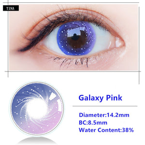 TINA Yearly Galaxy Color Contacts Galaxy Pink (2pcs/box)