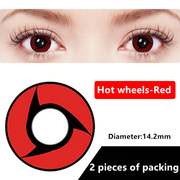 Halloween & cosplay Yearly Color Contacts Hot wheels-red (2pcs/box)
