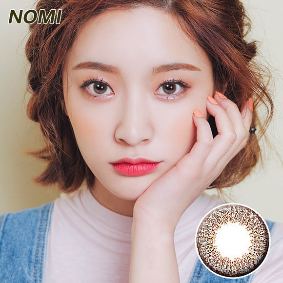 Korea NOMI mixed blood size diameter  mermaid disposable half yearly color contact lenses with degree Blooms2u Brown