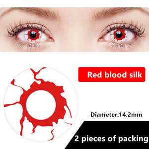 Halloween & cosplay Yearly Color Contacts Red blood silk (2pcs/box)