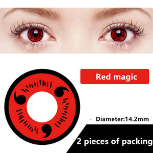 Halloween & cosplay Yearly Color Contacts Red magic (2pcs/box)