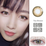 VISSMON yearly Contact Lenses Tea Brown (2pcs/box)