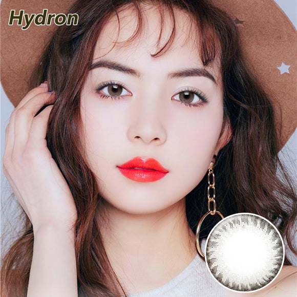 Hydron Run Li mixed blood size diameter disposable half yearly natural color contact lenses Grey