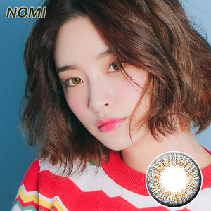Korea NOMI mixed blood size diameter  mermaid disposable half yearly color contact lenses with degree Blooms2u Grey