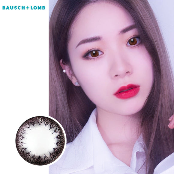 Bausch & Lomb one piece mixed blood small diameter disposable half yearly color contact lenses Black