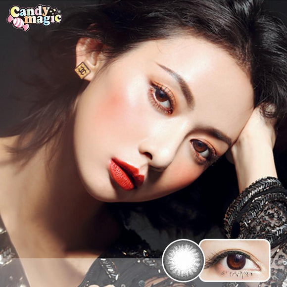 Japan girlie style  Japan candymagic disposable daily colored contact lenses 10pcs Beginner Black