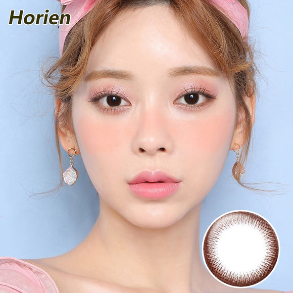 HORIEN Macarons Kiss size diameter disposable half yearly color contact lenses Macarons Mousse Brown