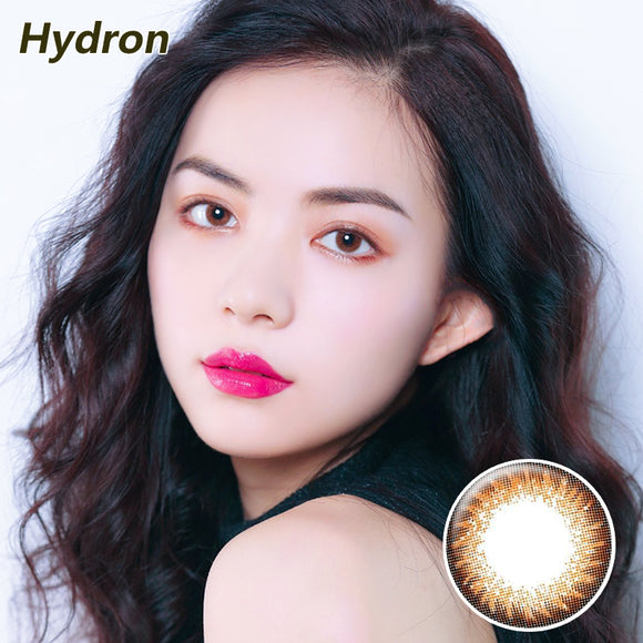Hydron Run Li mixed blood size diameter disposable half yearly natural color contact lenses Brown