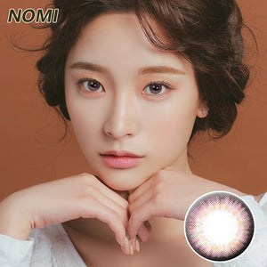 Korea NOMI mixed blood size diameter  mermaid disposable half yearly color contact lenses with degree Gossip4U Purple