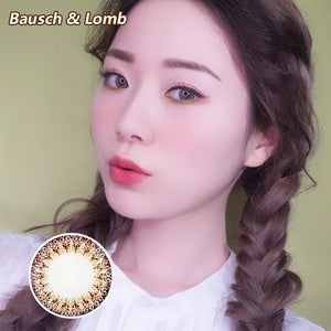 Bausch & Lomb one piece mixed blood small diameter disposable half yearly color contact lenses Brown