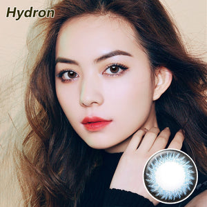 Hydron Run Li mixed blood size diameter disposable half yearly natural color contact lenses Blue