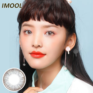 Japan IMOOL disposable quarterly colored contact lenses 2pcs packing Chocolate  Grey