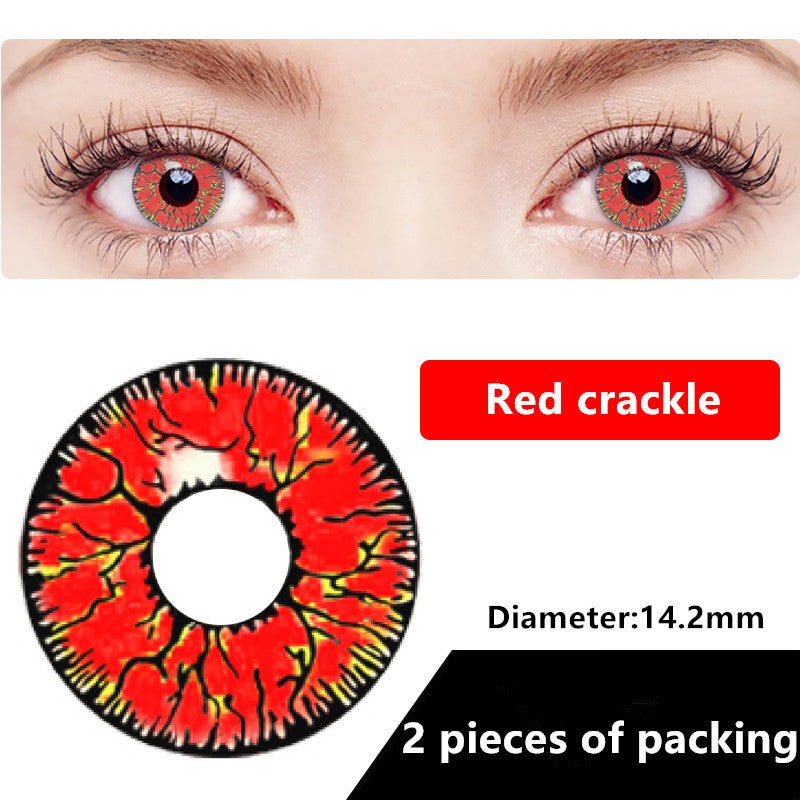Halloween & cosplay Yearly Color Contacts Red crackle (2pcs/box)