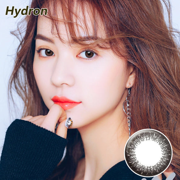 Hydron Run Li mixed blood size diameter disposable half yearly natural color contact lenses Black