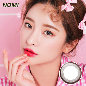 Korea NOMI mixed blood size diameter  mermaid disposable half yearly color contact lenses with degree  Bonbonsbeginning Small Chocolate Ring