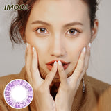 IMOOL Queen series quarterly mysterious purple colored contacts