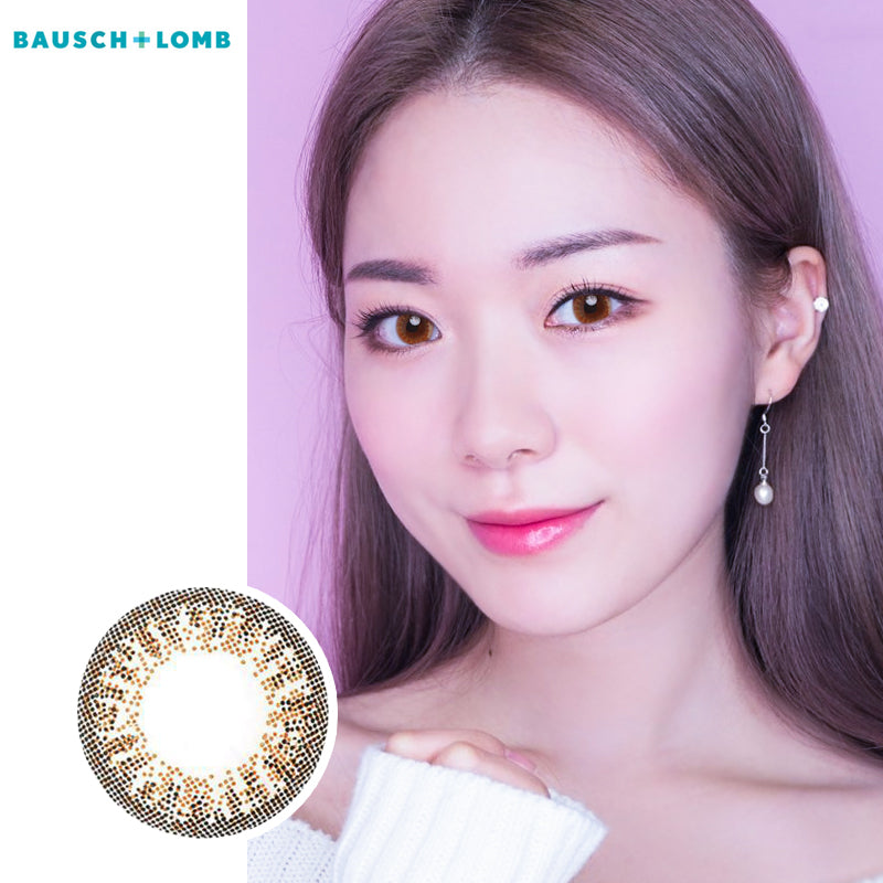 Bausch & Lomb Lacelle disposable daily color contact lenses Dazzling Brown