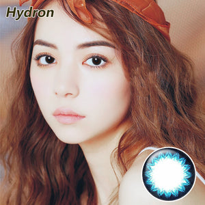 Hydron one piece sweetheart Brownie mixed blood size diameter disposable half yearly color contact lenses Yogurt Blue