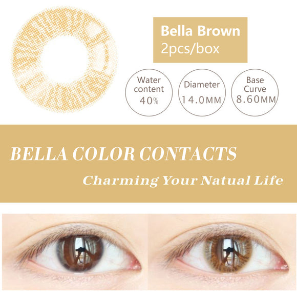 Bella Yearly Color Contacts Bella Brown (2pcs/box)