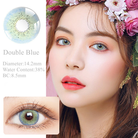 RNTO Yearly Color Contacts Doule Blue (2pcs/box)