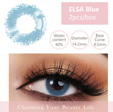 Bella Yearly Color Contacts ELSA Blue (2pcs/box)