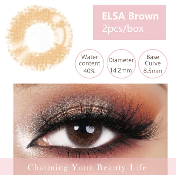Bella Yearly Color Contacts ELSA Brown (2pcs/box)