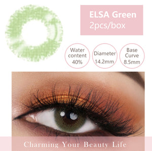 Bella Yearly Color Contacts ELSA Green (2pcs/box)