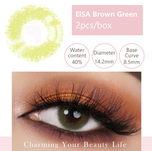 Bella Yearly Color Contacts ElSA Brown Green (2pcs/box)