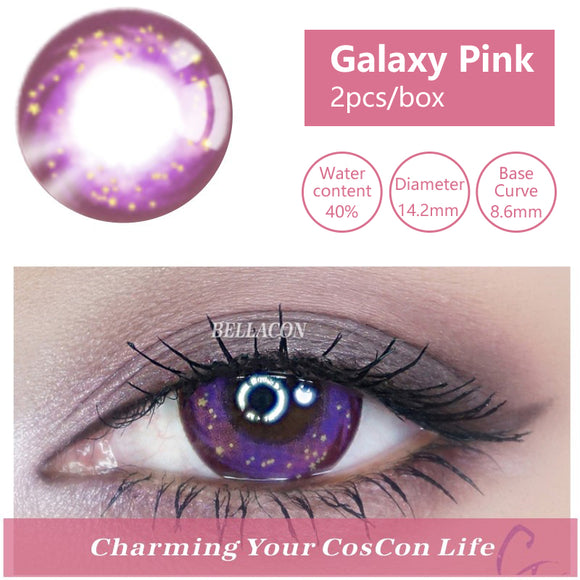 Bella Yearly Color Contacts Galaxy Pink (2pcs/box)