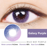 Bella Yearly Color Contacts Galaxy Purple (2pcs/box)