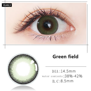 MiaoMou yearly Contact Lenses Green field (2pcs/box)