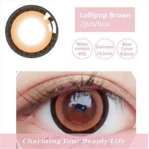 Bella Yearly Color Contacts Lollipop Brown (2pcs/box)
