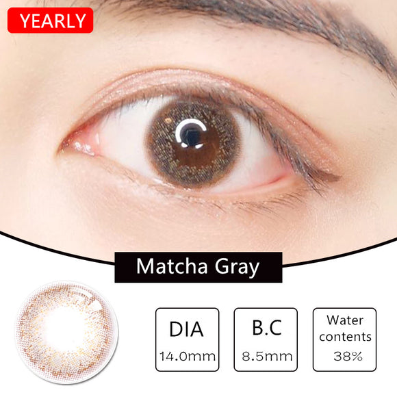 MiaoMou yearly Contact Lenses Matcha Gray (2pcs/box)