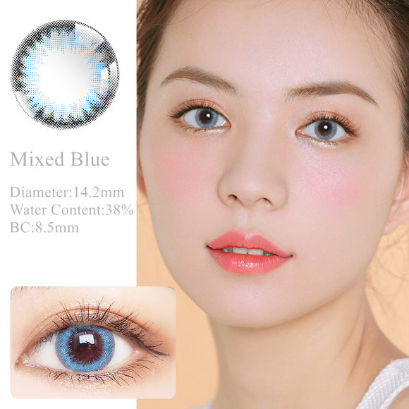 RNTO Yearly Color Contacts Mixed Blue (2pcs/box)