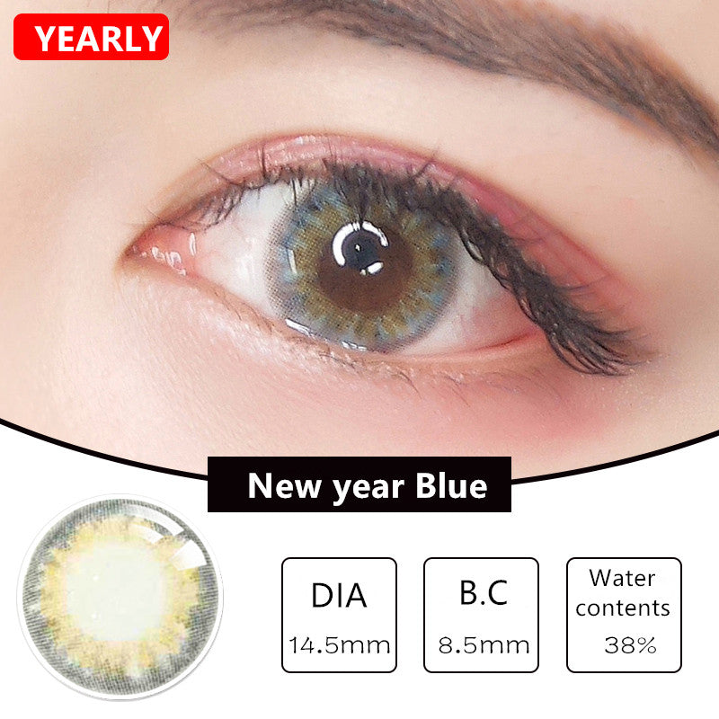 MiaoMou yearly Contact Lenses New Year Blue (2pcs/box)
