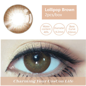Bella Yearly Color Contacts Nut Brown (2pcs/box)